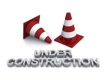 Bajo conos de la construcción Fotografía de archivo
