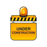 Bajo construcción/3 ilustración del vector
