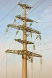 Bajo construcción de las líneas de transmisión de poder Foto de archivo libre de regalías