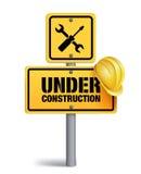 Bajo construcción firme adentro Backgroun blanco libre illustration