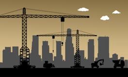 Bajo construcción, Los Ángeles, los E.E.U.U. ilustración del vector