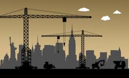 Bajo construcción, New York City, los E.E.U.U. Imagen de archivo libre de regalías