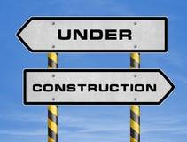 Bajo construcción Imagen de archivo libre de regalías