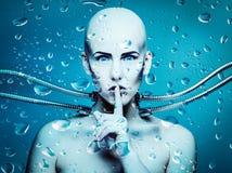 Bajo el agua androide Fotos de archivo