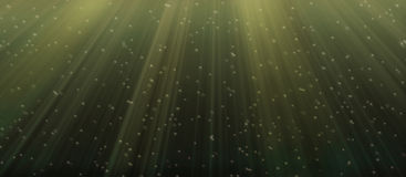 Bajo el agua verde Imagen de archivo libre de regalías