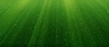 Bajo el agua verde Foto de archivo libre de regalías