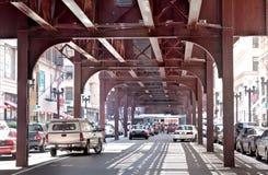 Bajo el EL Chicago Fotografía de archivo