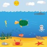 Bajo el mar Foto de archivo libre de regalías