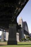 Bajo el puente de puerto de Sydney Imagen de archivo libre de regalías
