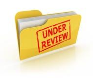 Bajo icono de la carpeta de la revisión Fotos de archivo libres de regalías