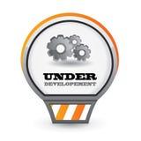 Bajo icono del desarrollo Fotografía de archivo