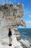 Bajo la roca colgante Imagen de archivo