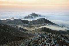 Bajo Paljenik-top de la montaña Vlasic Fotos de archivo libres de regalías