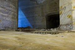 Bajo pieza de la construcción y cerrado a visitar de la cacerola de la sal de Slanic Prahova imagen de archivo