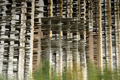 Bajo reflexión del fragmento de la casa de la construcción Fotografía de archivo