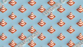 Bajo representación del fondo 3d de la página de la construcción