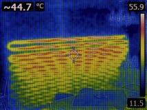 Bajo toma de imágenes térmica de la pared Foto de archivo