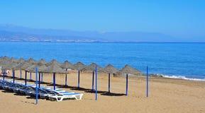 bajondillo海滩西班牙torremolinos 库存图片