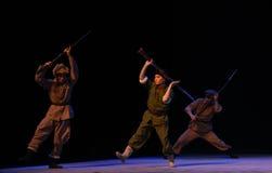 "Bajonett-Peking opera som ""Taking Tiger Montain By Strategyâ € Royaltyfri Bild"