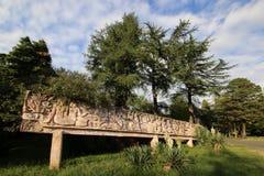 Bajorrelieve decorativo en el parque de Sinop foto de archivo libre de regalías