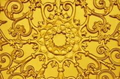Bajorrelieve del loto del oro imágenes de archivo libres de regalías