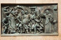 Bajorrelieve del mártir Hermogenes Imágenes de archivo libres de regalías
