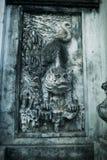 Bajorrelieve del tigre en el templo de la literatura en Hanoi, Vietnam fotografía de archivo libre de regalías