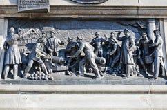 Bajorrelieve en el monumento a almirante Nakhimov Foto de archivo libre de regalías