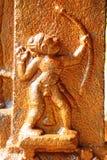 Bajorrelieve en el templo hindú Swami Temple de Janardana Templo de Varkala Imagen de archivo