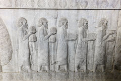 Bajorrelieve en Persepolis, Irán Foto de archivo