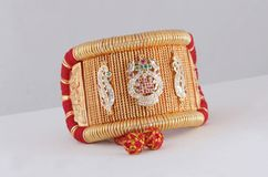Baju Band jewelry. Indian Traditional jewelry  `Baju Band` wear in forearm famouse in rajasthan state of india Stock Image