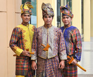 Baju Melayu. Traditional malay entire with songket dress Stock Photography