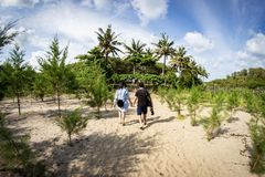 Bajul Mati Beach Malang, Indonesia foto de archivo libre de regalías