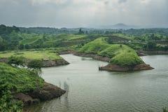 Bajulmati水库在Situbondo印度尼西亚 库存照片