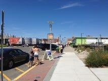 Bak Asbury parkera strandpromenaden Royaltyfri Bild