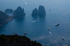 Bak av ön av Capri Royaltyfri Bild