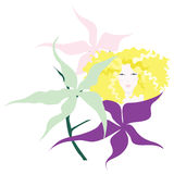 bak blommaflicka like liljan little Royaltyfri Foto