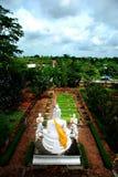 bak buddha Royaltyfri Bild