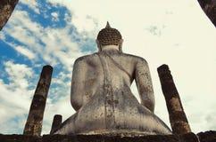 bak buddha Royaltyfri Foto