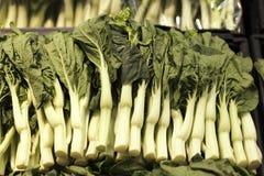 Bak Choi sålde i en supermarket i Hong Kong Arkivfoto