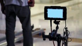 Bak den digitala siktsskärmen för video produktion Arkivfoto