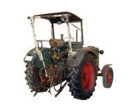 bak den gammala traktoren Royaltyfria Bilder
