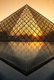 bak den luftventilparis solnedgången Arkivbild