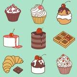 Bak en de reeks van de snoepjeskleur vector illustratie