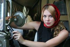 bak flickahjulet Fotografering för Bildbyråer