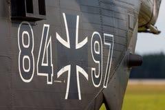 Bak från en transporthelikopter för tysk ch-53 Royaltyfri Fotografi