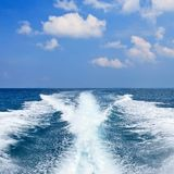 Bak hastighetsfartyget Arkivfoton