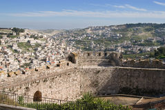 bak jerusalem väggar arkivbild