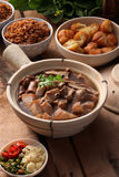 Bak kuh teh. A Malaysian herbal pork dish Stock Photography