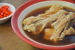 Bak Kut serdecznie orientalna ziołowa ciemna polewka wieprzowina dodatkowi ziobro Fotografia Stock